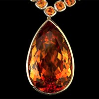 November's Fiery Birthstone Takes Center Stage in 'Jolie Citrine Necklace'